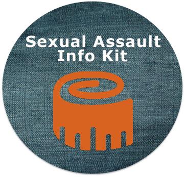 Sexual Assault Info Kit Button